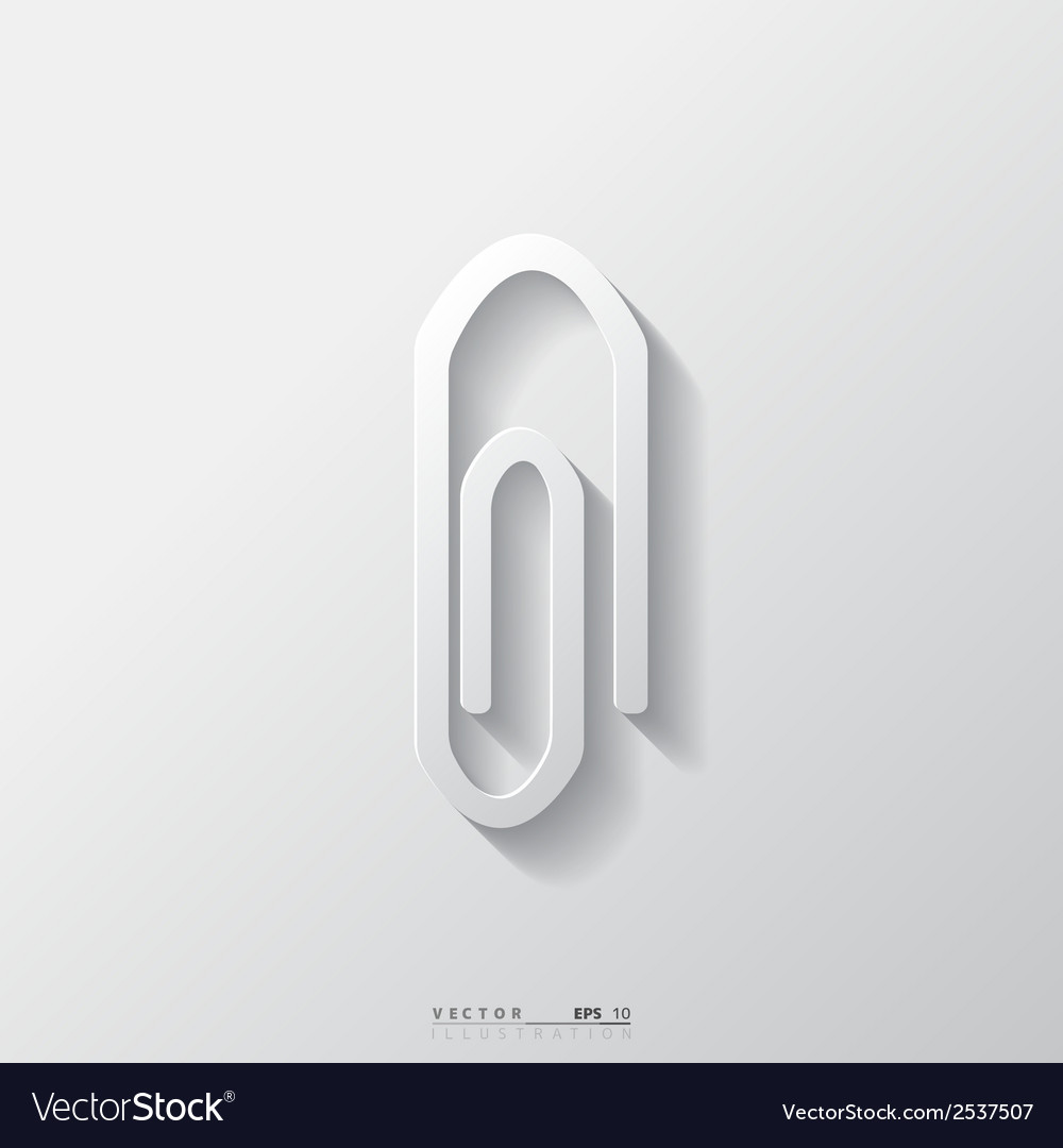 Paper clip icon vector | Price: 1 Credit (USD $1)