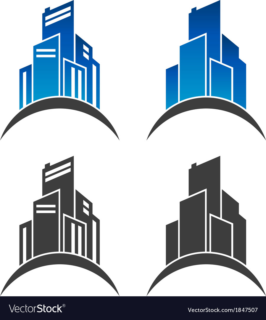 Real estate building icons vector | Price: 1 Credit (USD $1)