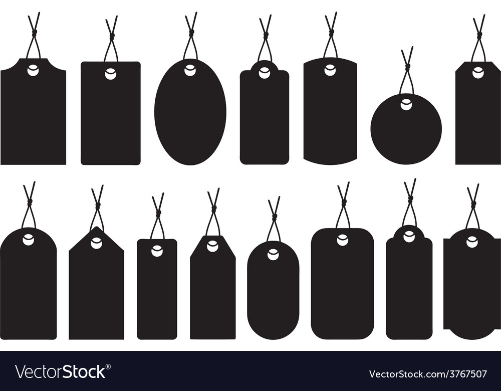 Set of different price tags vector | Price: 1 Credit (USD $1)