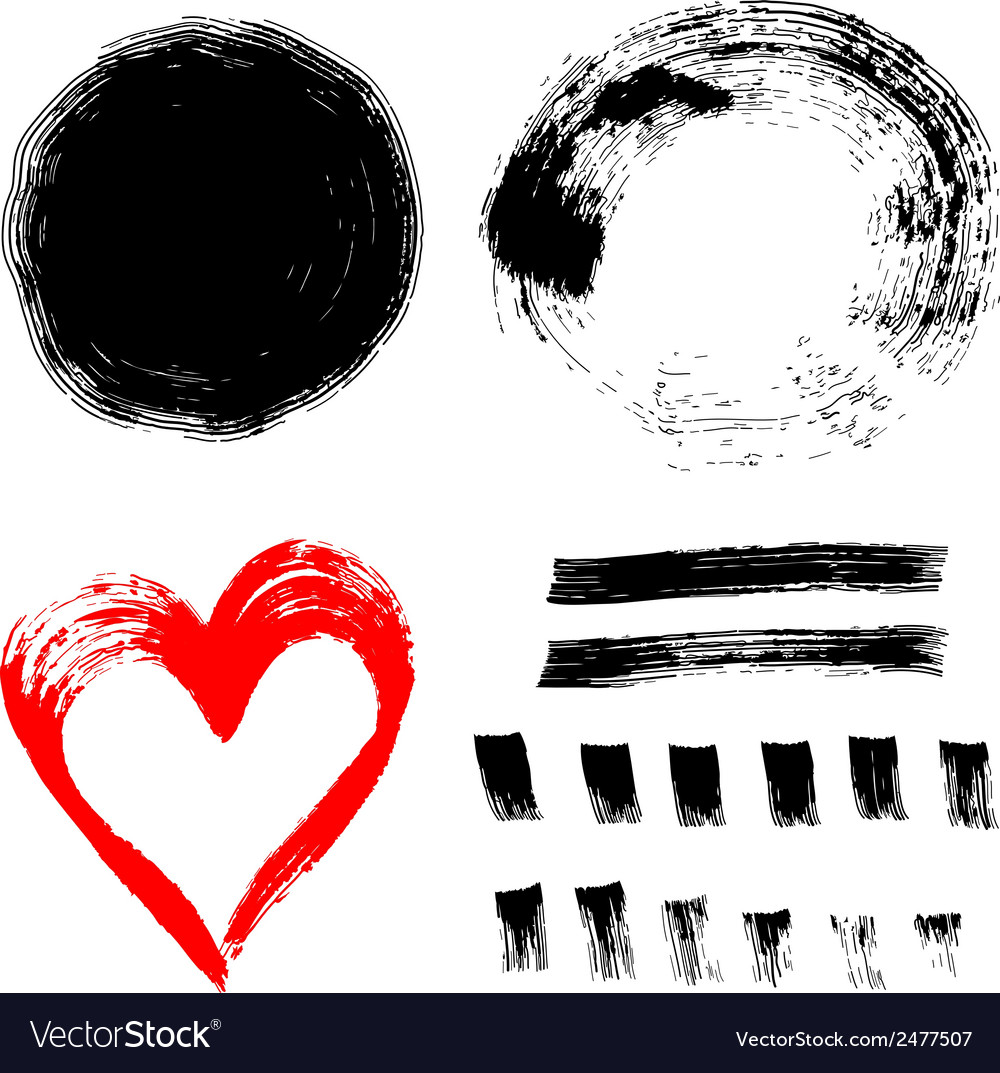 Set of ink paint frames vector | Price: 1 Credit (USD $1)