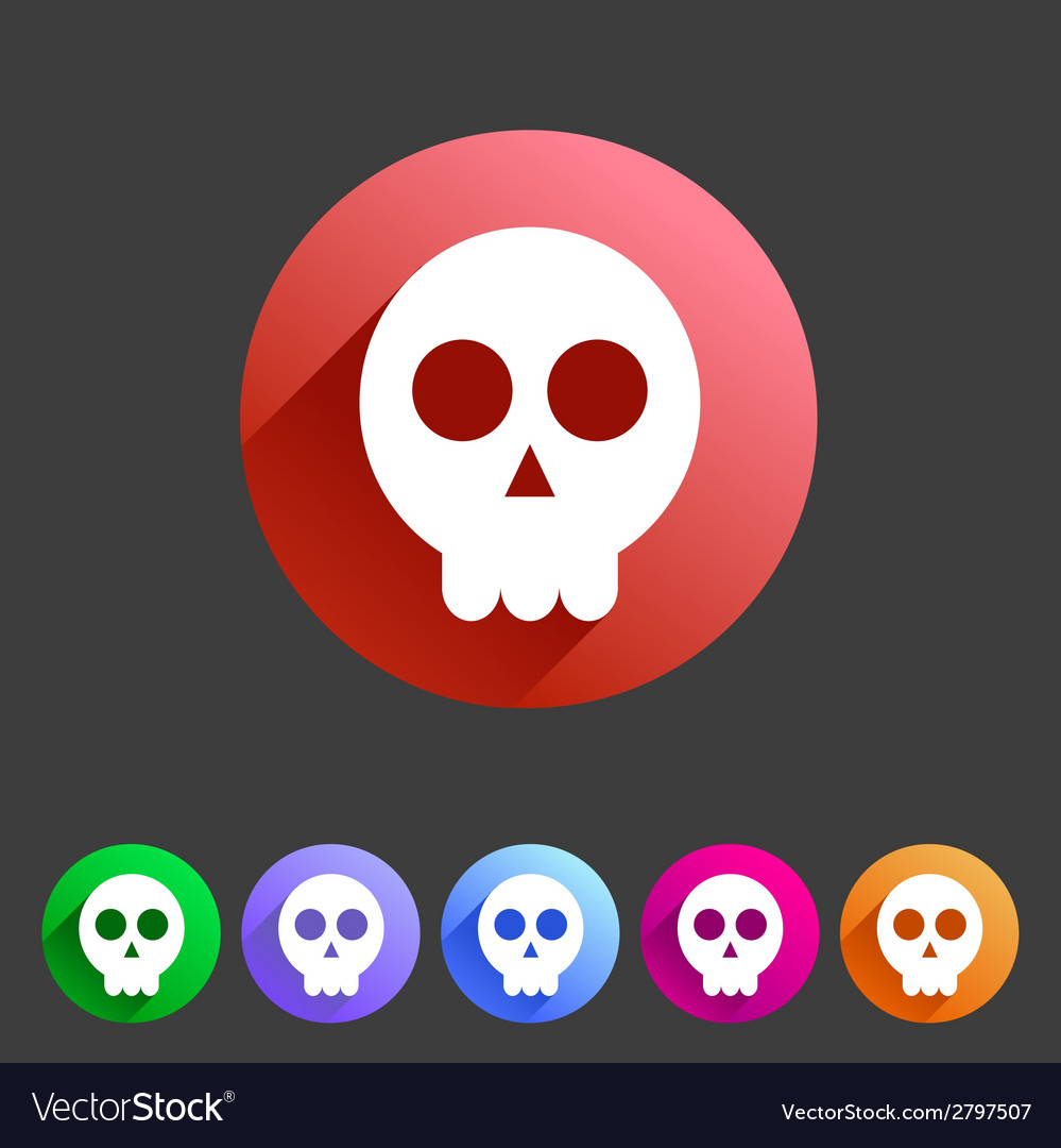 Skull flat icon vector | Price: 1 Credit (USD $1)