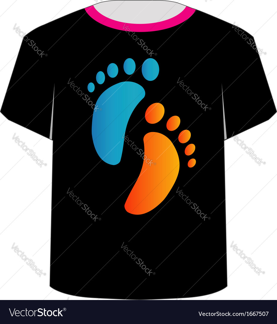 T shirt template- baby foot vector | Price: 1 Credit (USD $1)