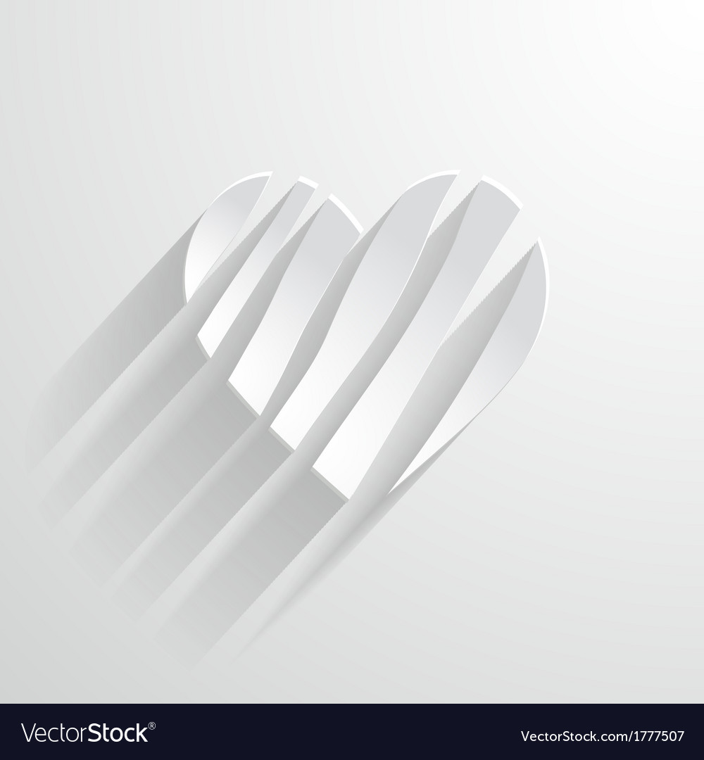 White paper heart vector | Price: 1 Credit (USD $1)