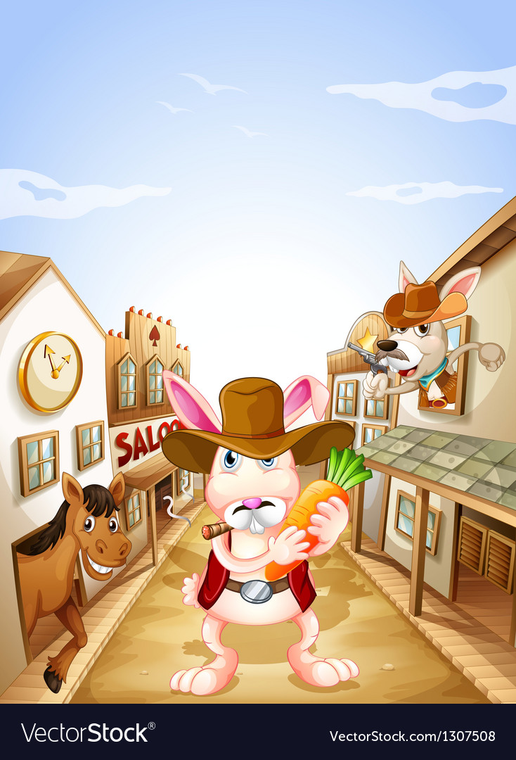 Animals in the neighborhood vector | Price: 1 Credit (USD $1)