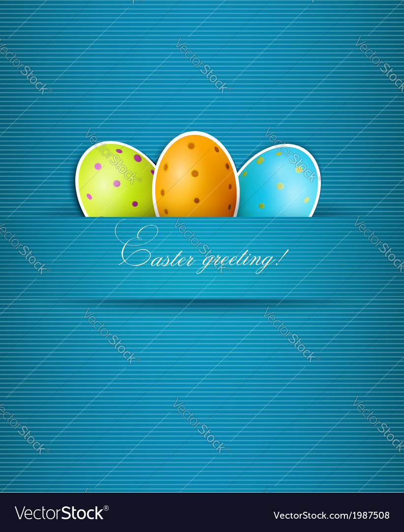Easter background with eggs vector | Price: 1 Credit (USD $1)