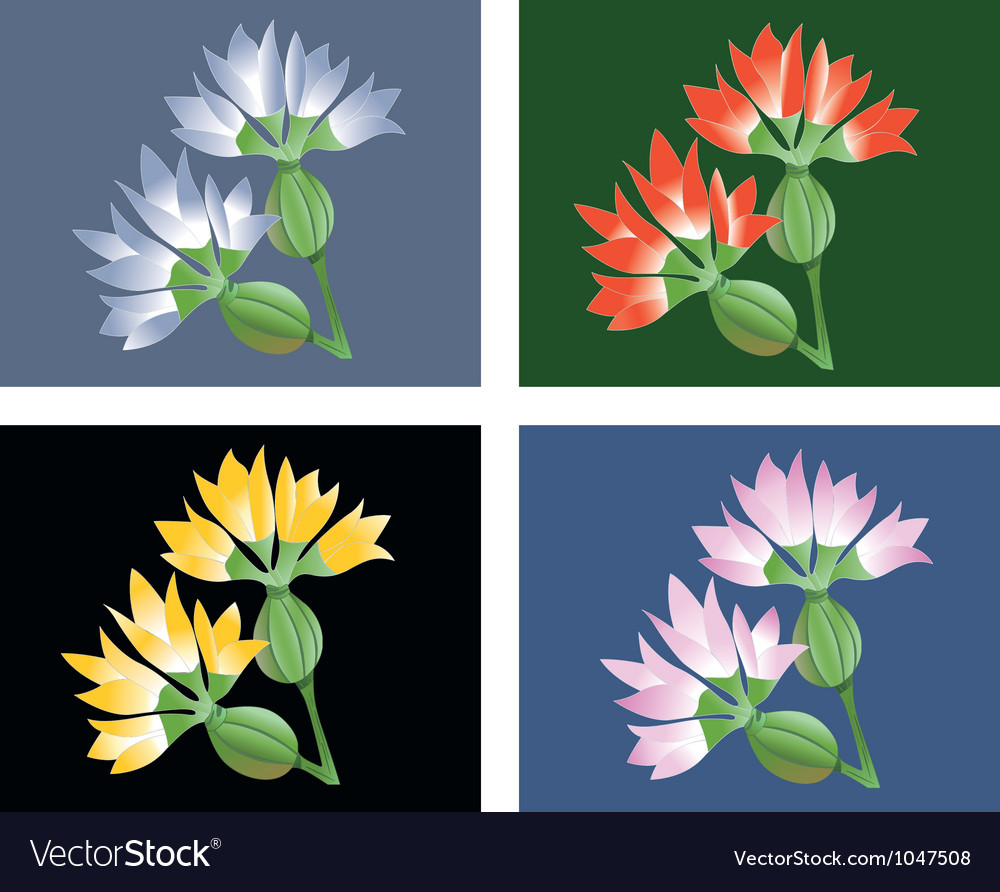 Fantasy flower vector | Price: 1 Credit (USD $1)