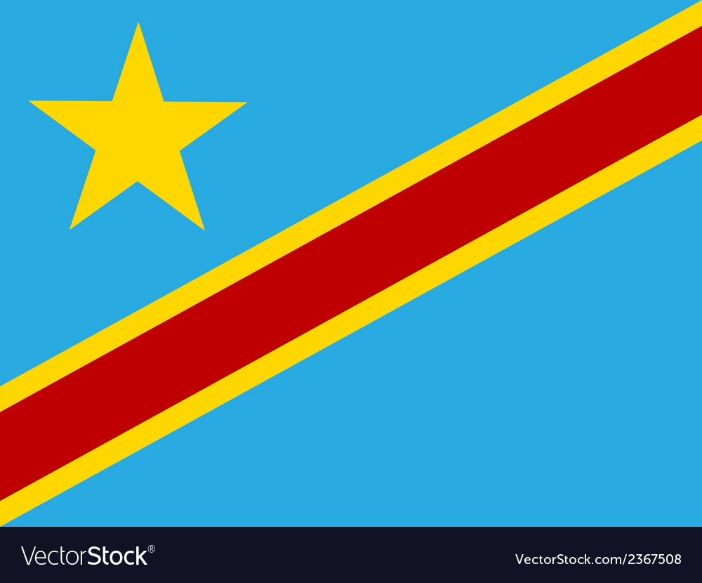 Flag of democratic republic of the congo vector | Price: 1 Credit (USD $1)