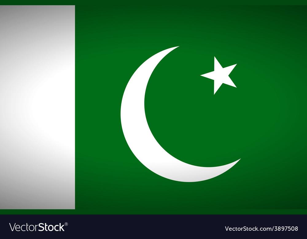 Flag of pakistan vector | Price: 1 Credit (USD $1)