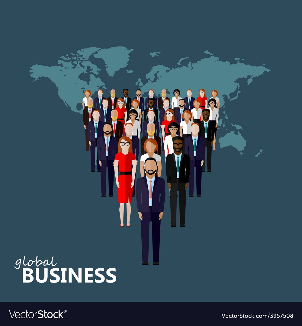 Flat of leader and team group of vector | Price: 1 Credit (USD $1)
