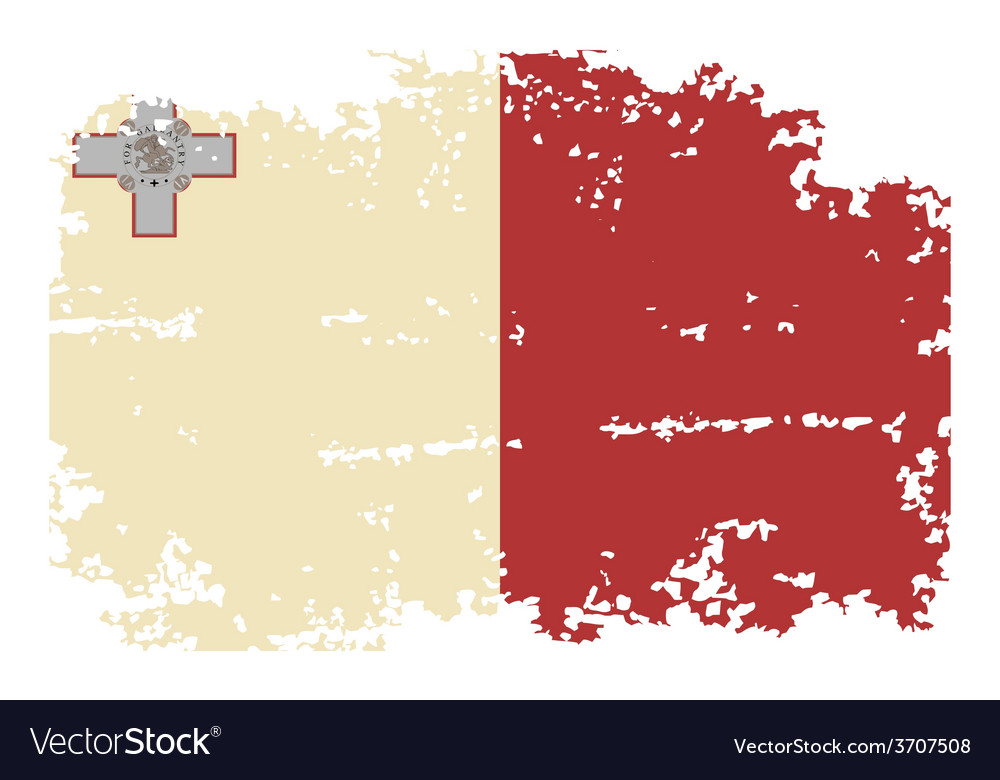Maltese grunge flag vector | Price: 1 Credit (USD $1)
