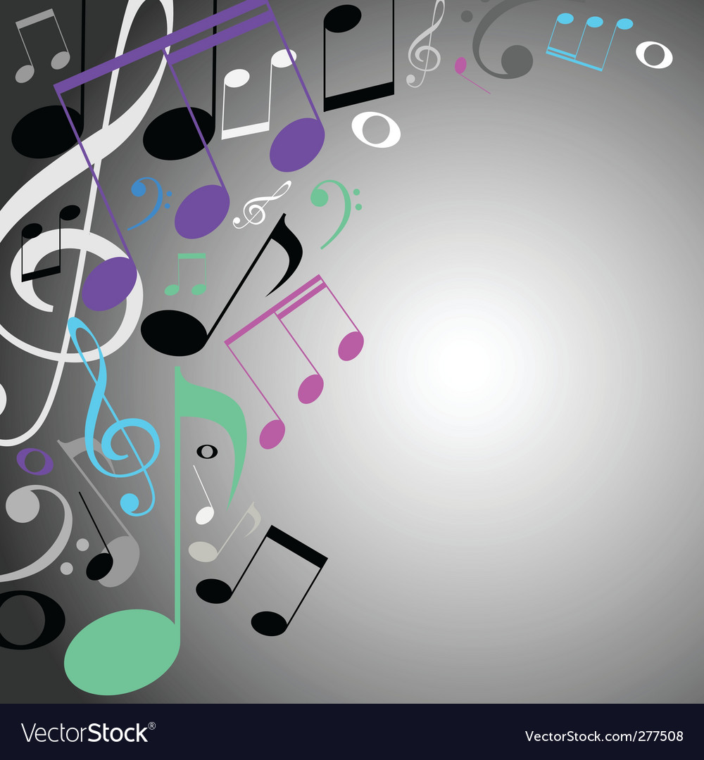 Musical background note vector | Price: 1 Credit (USD $1)
