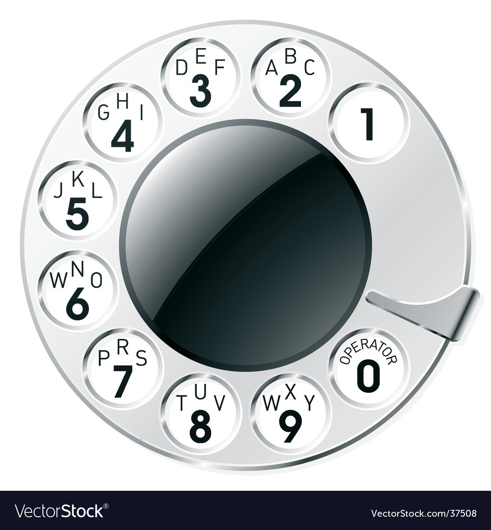 Rotary dial vector | Price: 1 Credit (USD $1)