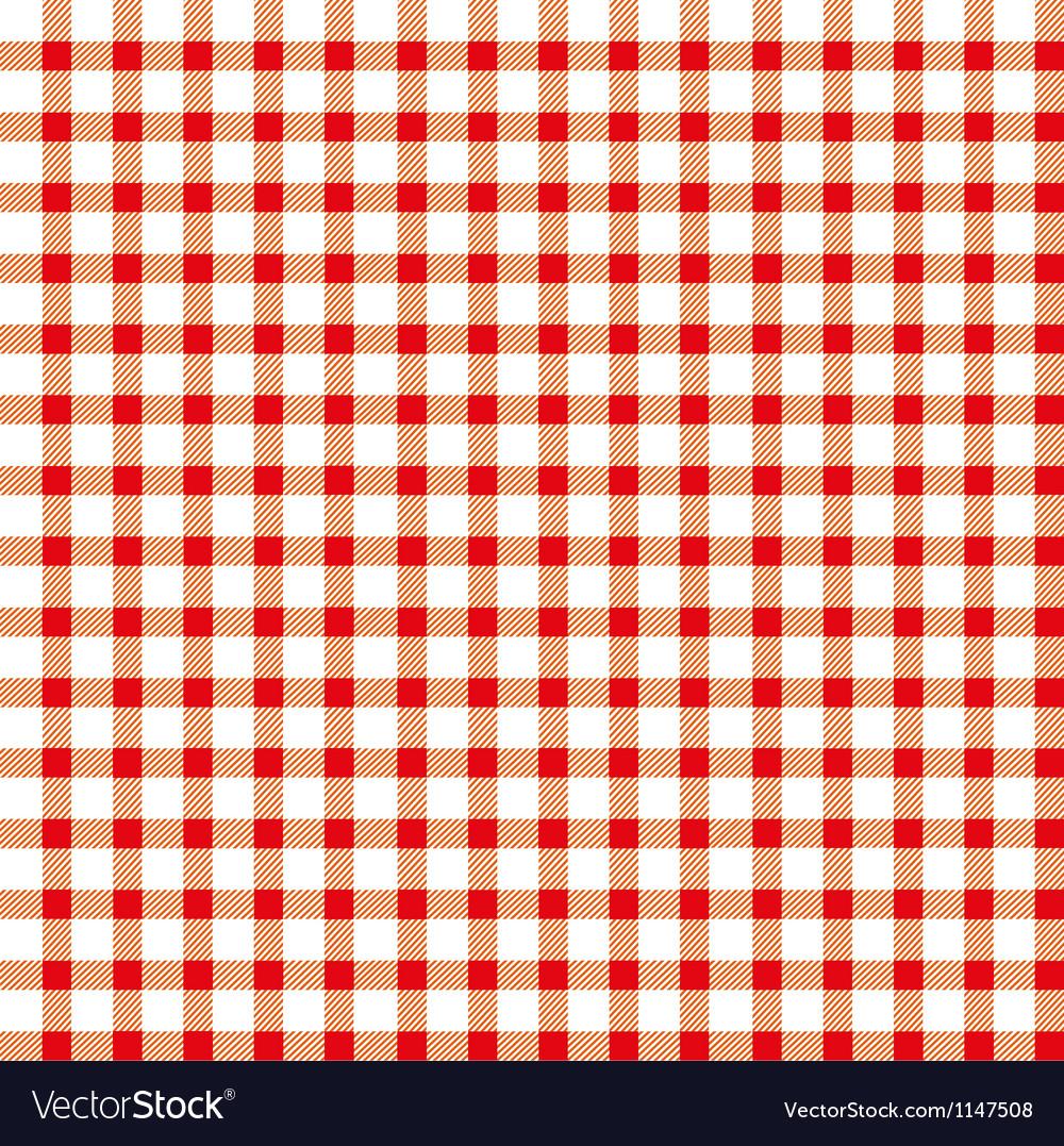 Seamless retro white-red square tablecloth vector | Price: 1 Credit (USD $1)