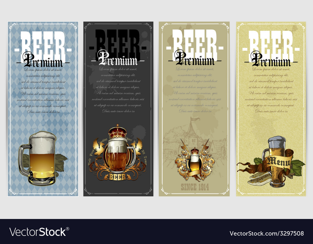 Set of beer labels vector | Price: 1 Credit (USD $1)