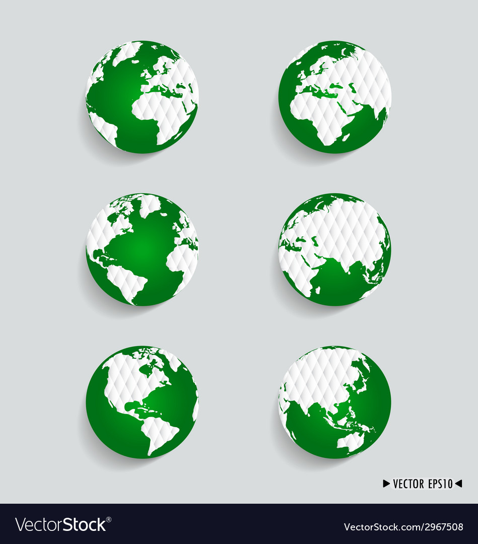 Set of modern globes vector | Price: 1 Credit (USD $1)