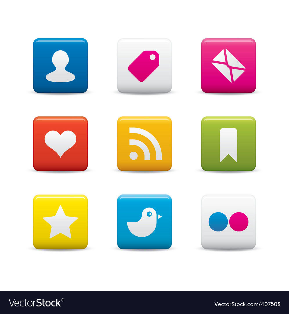 Social media icon sets vector | Price: 1 Credit (USD $1)