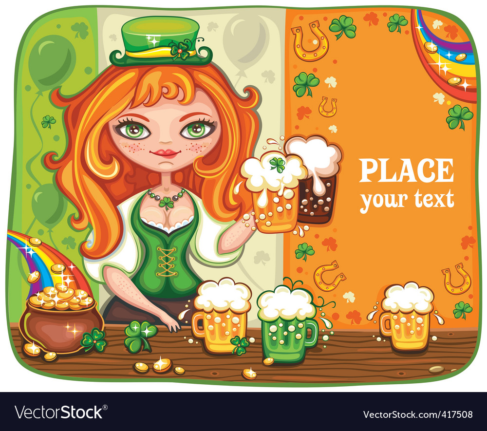 St paddy girl vector | Price: 3 Credit (USD $3)
