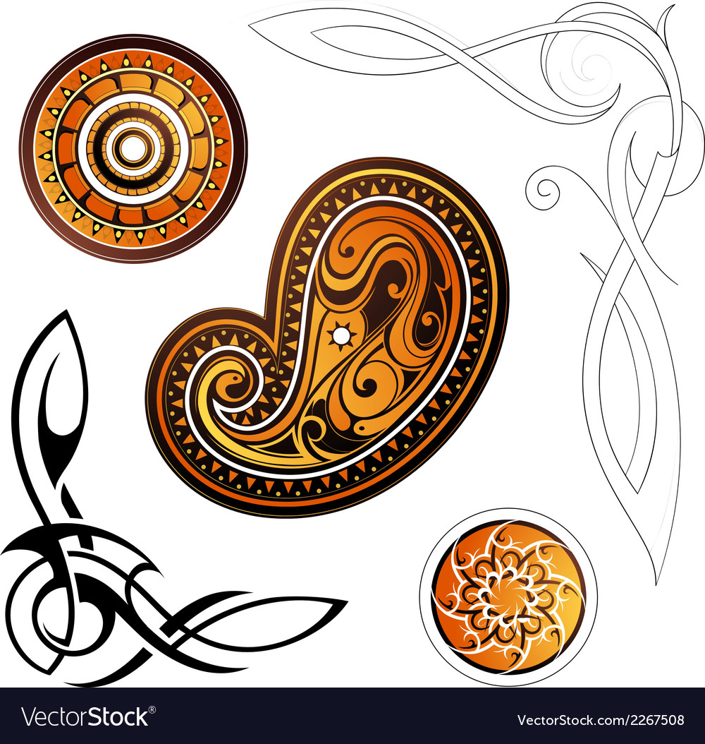 Tribal set vector | Price: 1 Credit (USD $1)