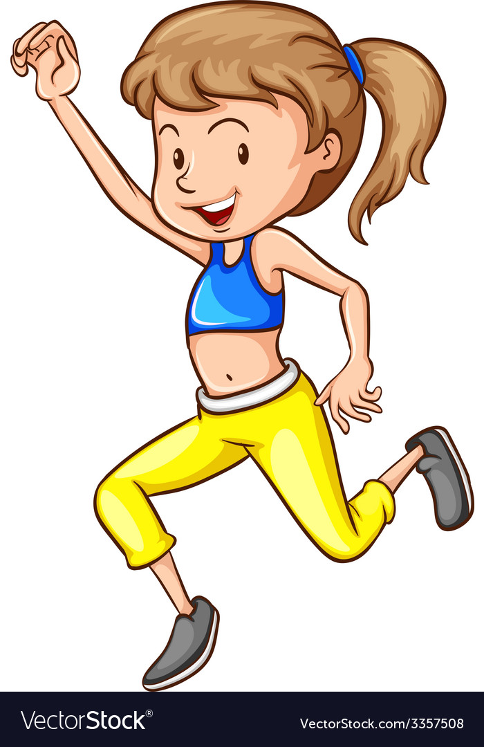 Workout girl vector | Price: 1 Credit (USD $1)