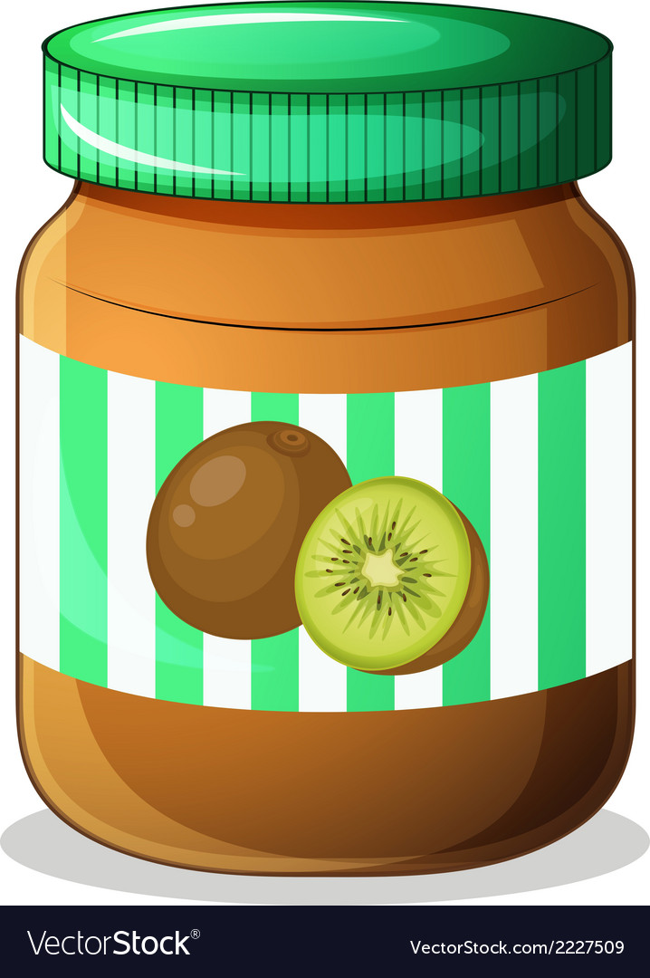 A bottle of kiwi jam vector | Price: 1 Credit (USD $1)