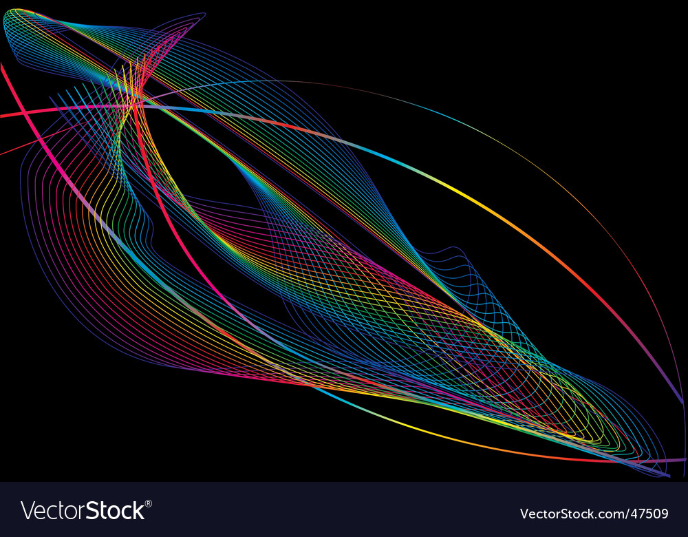 Abstract wave vector | Price: 1 Credit (USD $1)