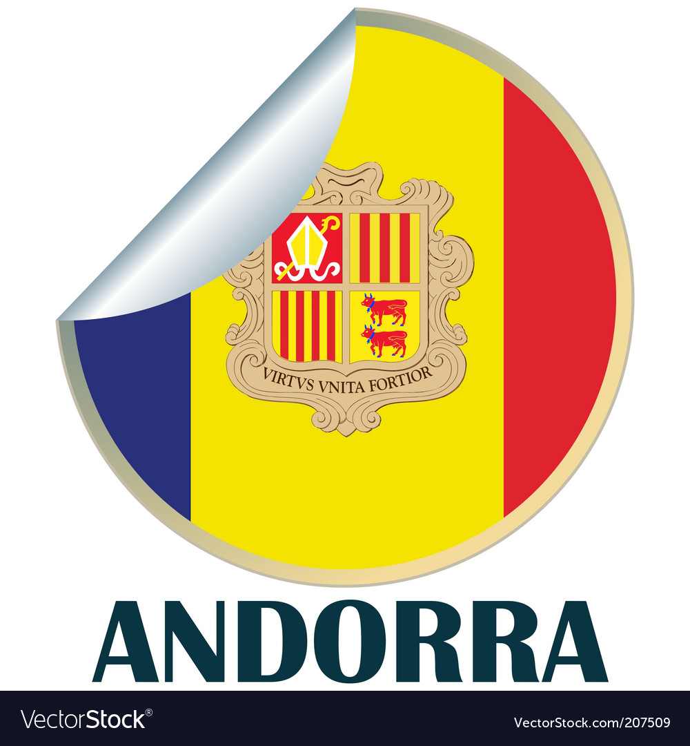 Andorra sticker vector | Price: 1 Credit (USD $1)