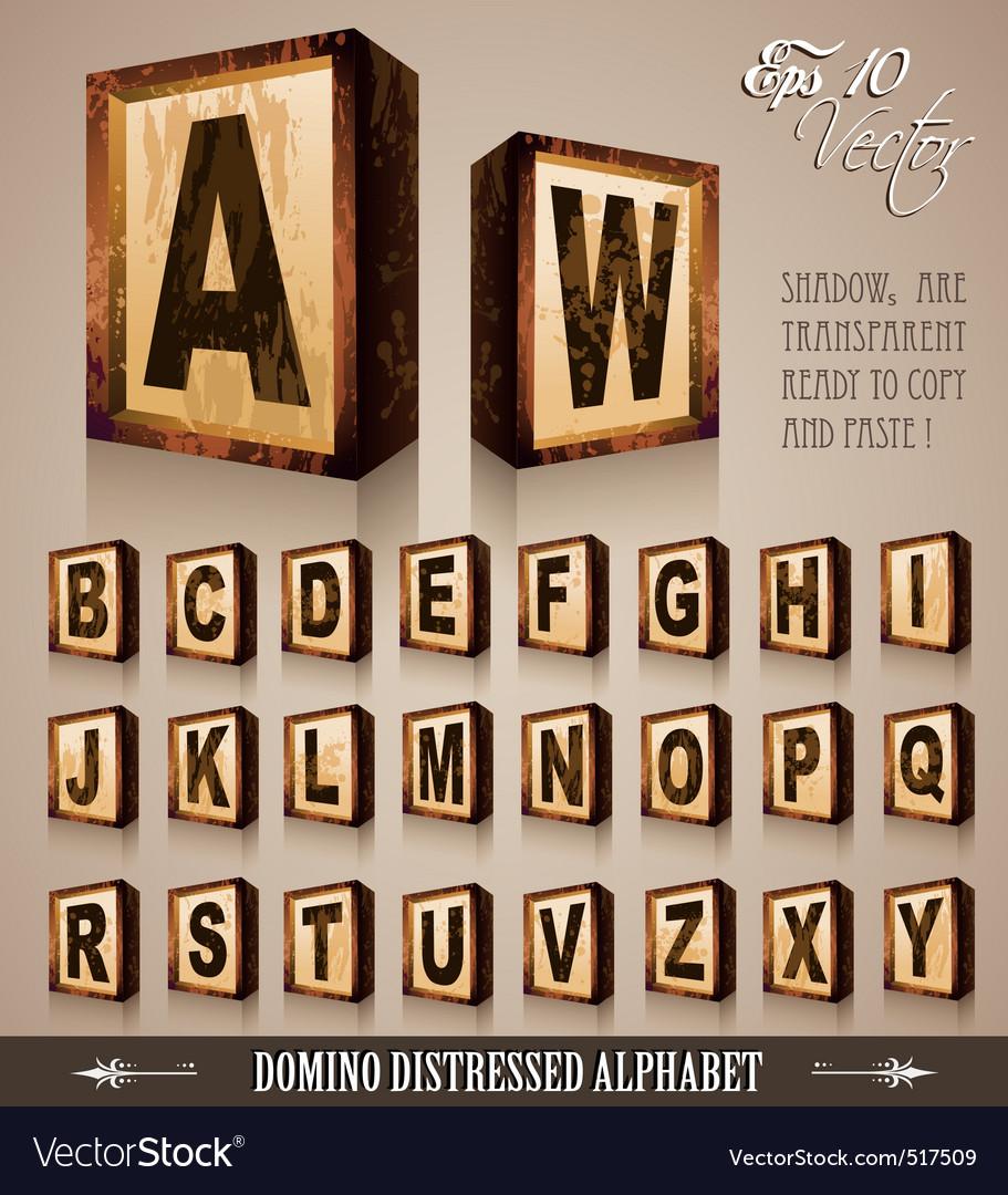 Domino alphabet vector | Price: 1 Credit (USD $1)