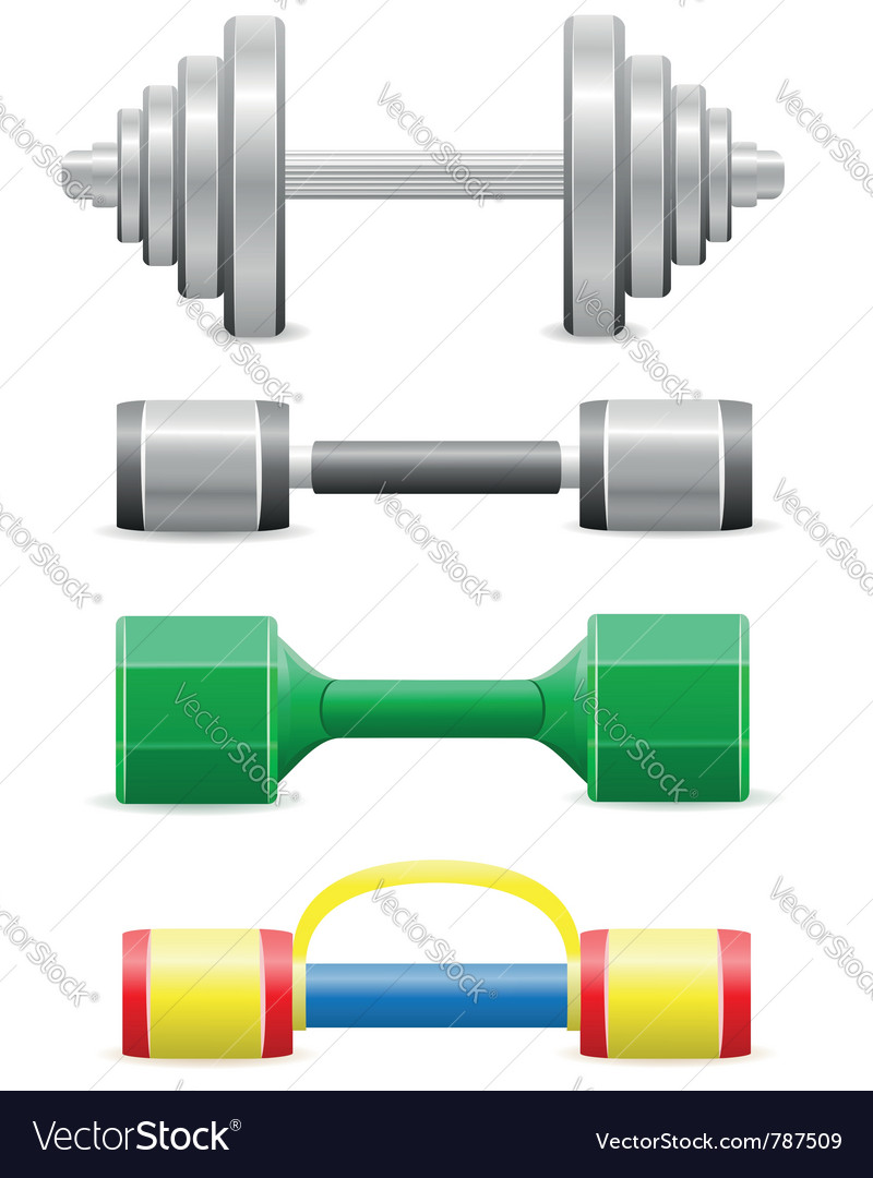 Dumbbells for fitness vector | Price: 1 Credit (USD $1)