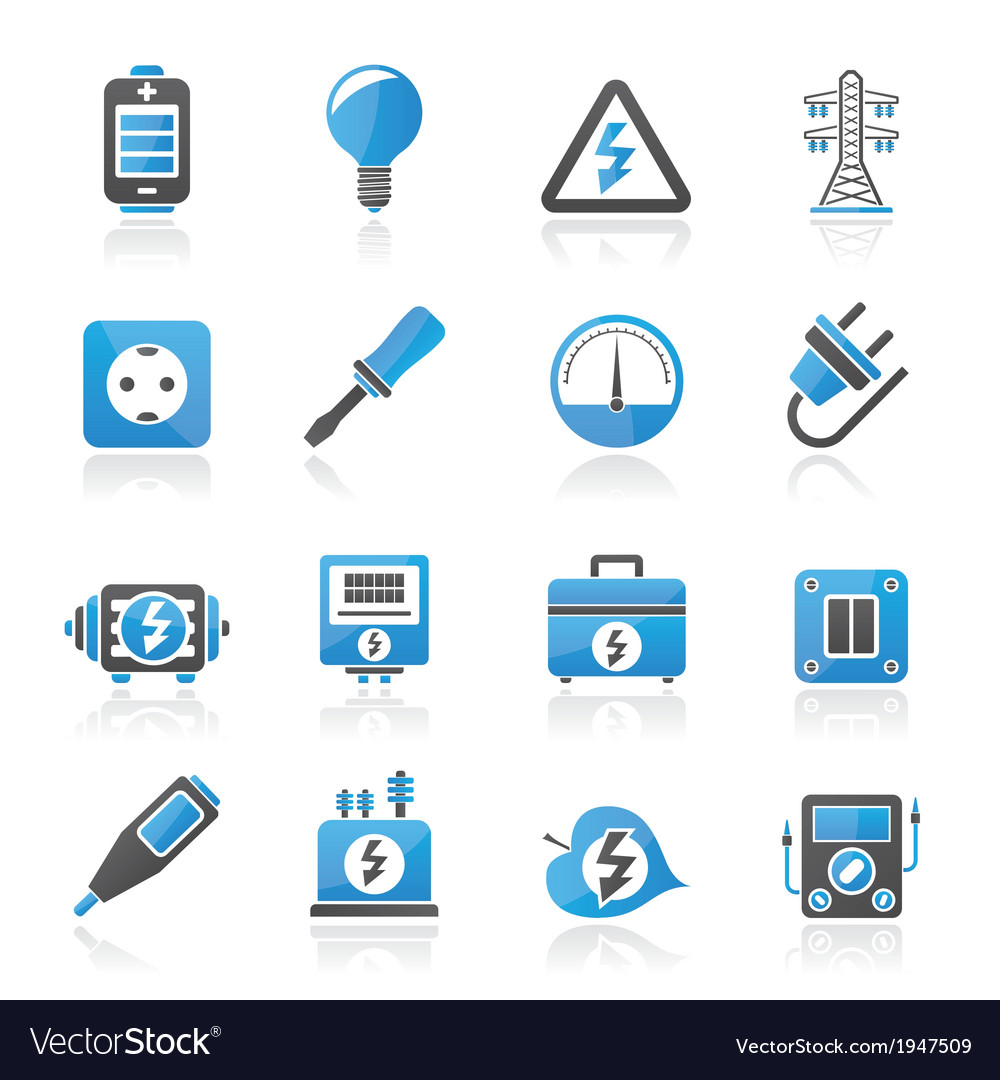 Electricity and energy icons vector | Price: 1 Credit (USD $1)