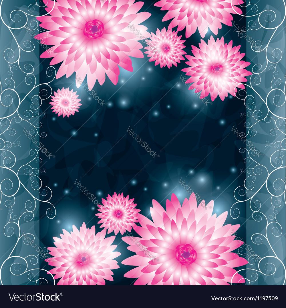 Flower chrysanthemum background invitation or vector | Price: 1 Credit (USD $1)