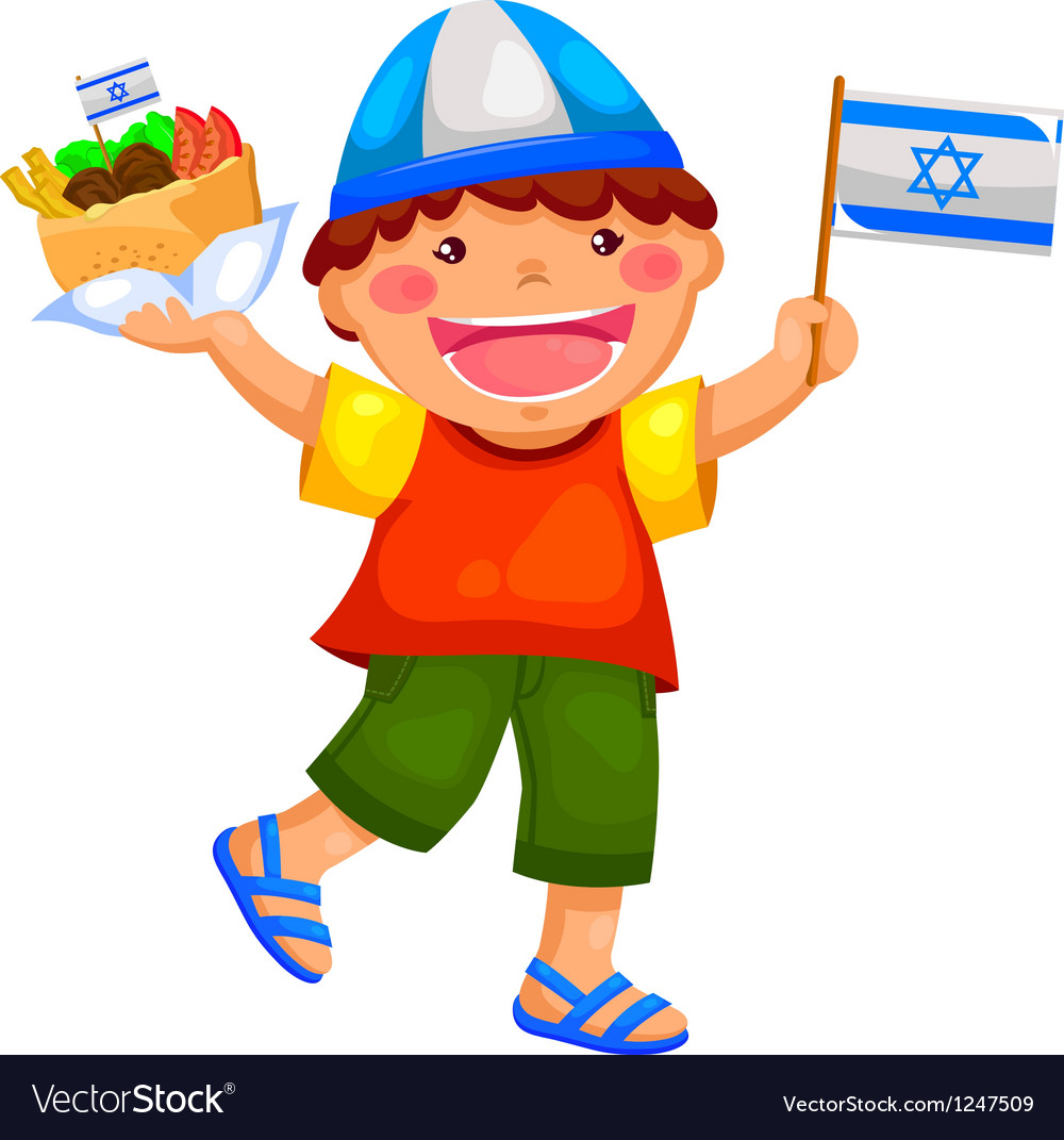 Israeli kid vector | Price: 3 Credit (USD $3)