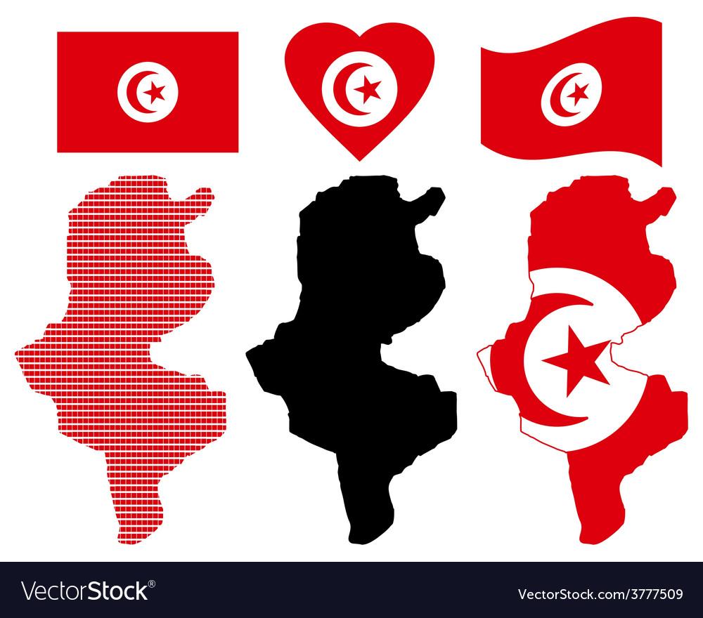 Map of tunisia vector | Price: 1 Credit (USD $1)