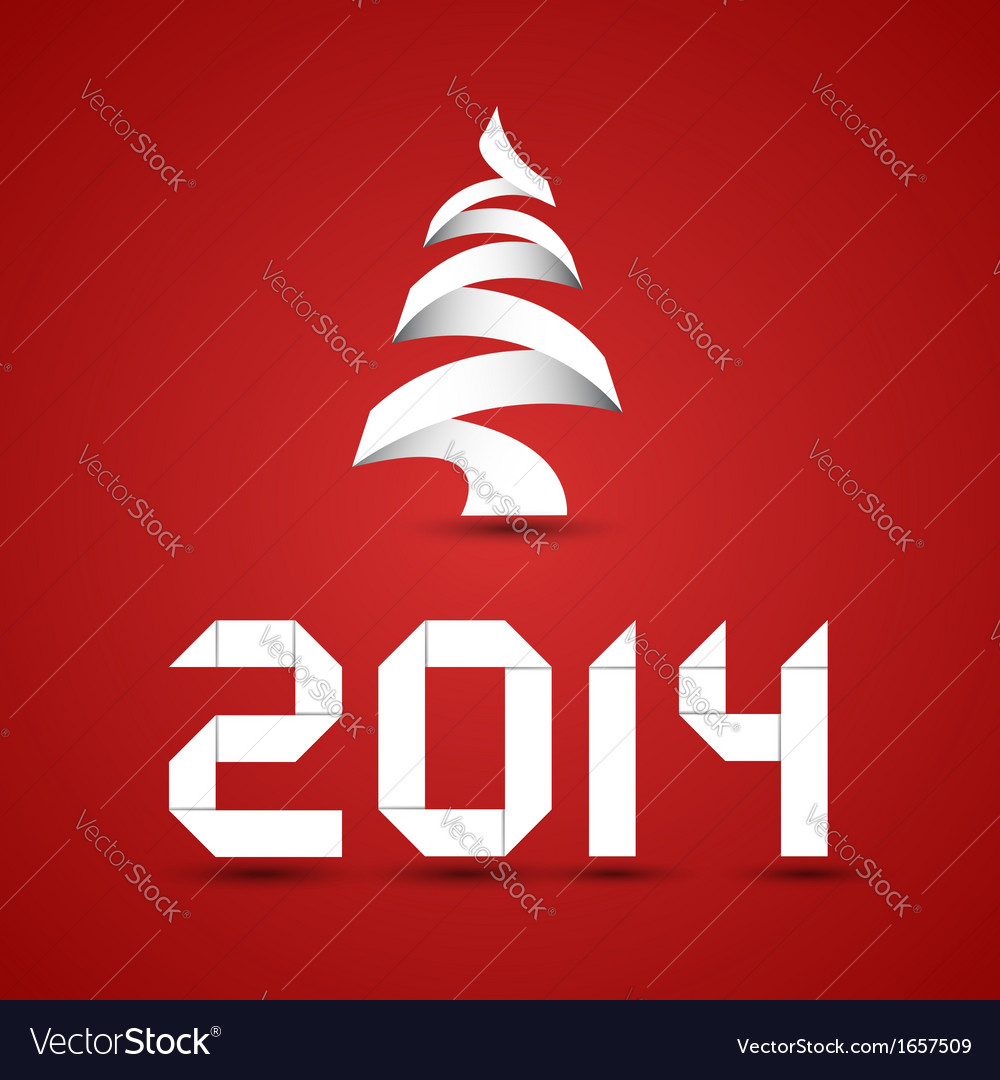 Red new 2014 year background vector | Price: 1 Credit (USD $1)
