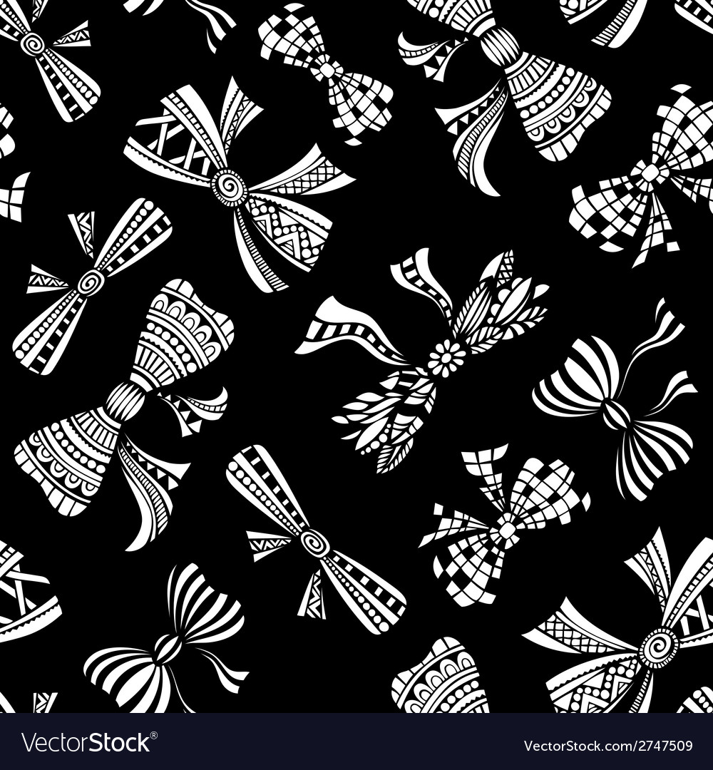 Seamless pattern of various bows vector | Price: 1 Credit (USD $1)
