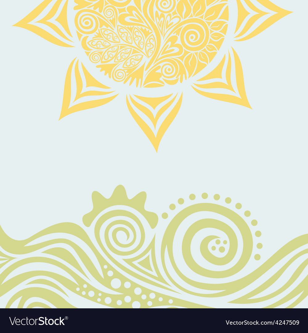 Sun nature pattern background vector
