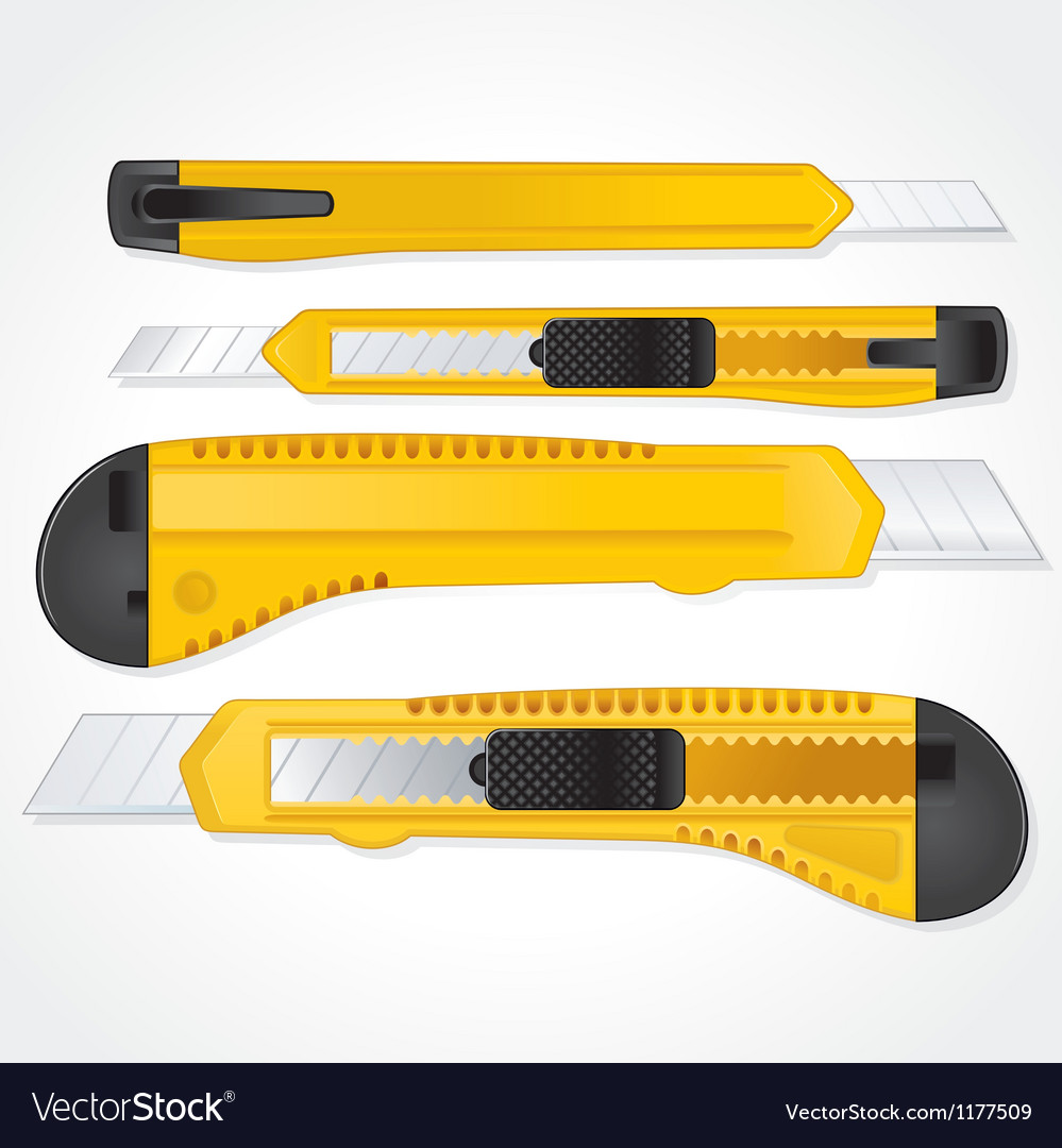 Yellow plastic office paper knifes detailed image vector   Price: 3 Credit (USD $3)