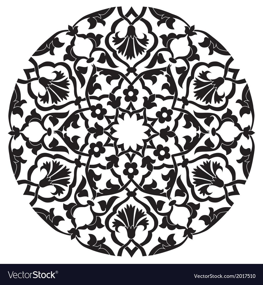 Black oriental ottoman design twenty four vector | Price: 1 Credit (USD $1)