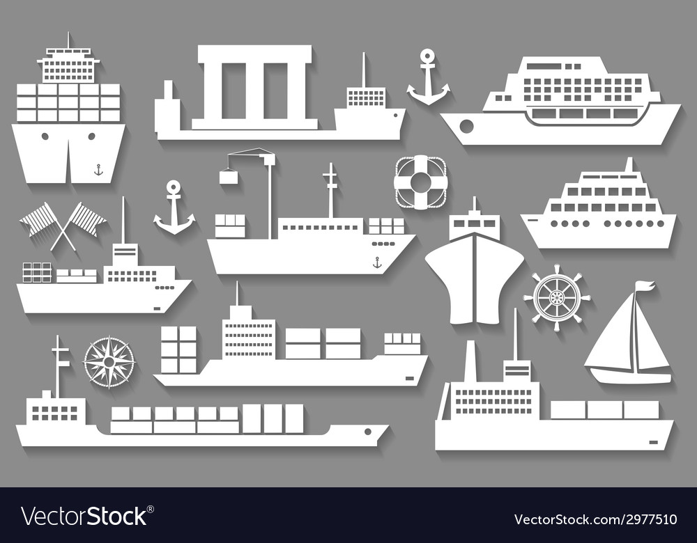 Boat and ship icons vector | Price: 1 Credit (USD $1)