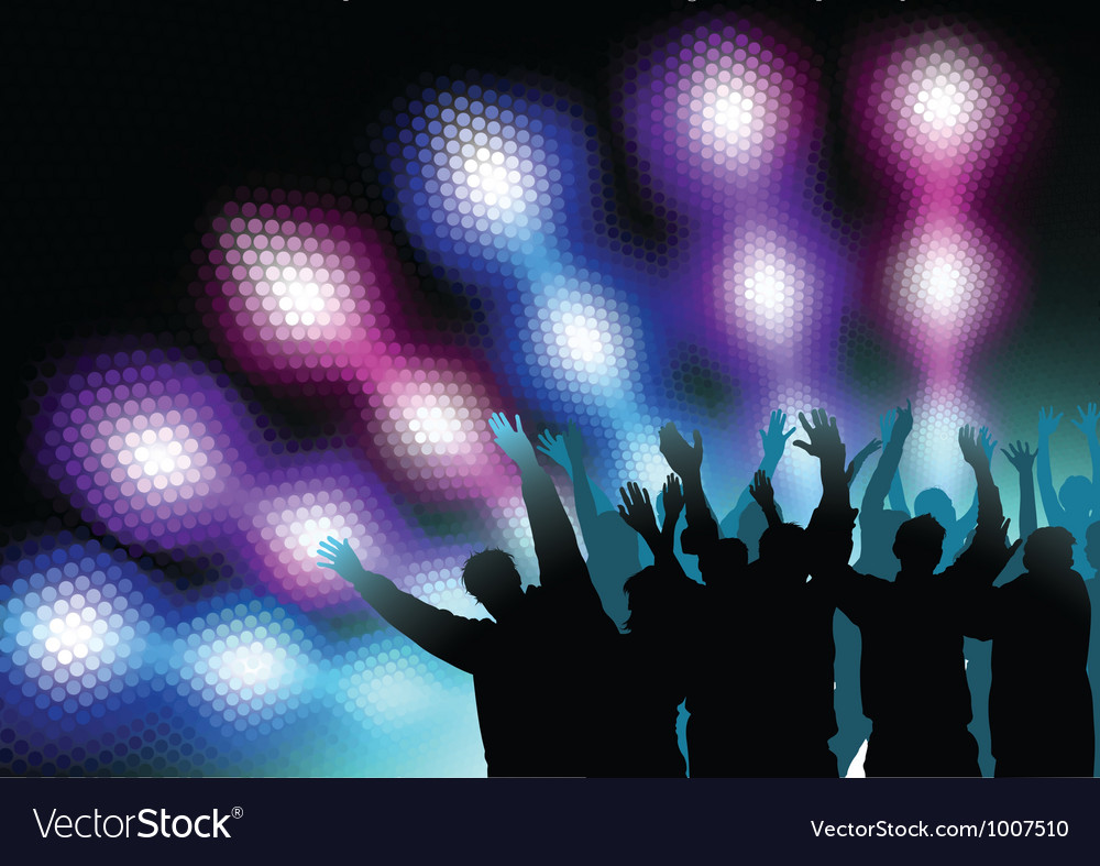 Colored nightlife vector | Price: 1 Credit (USD $1)