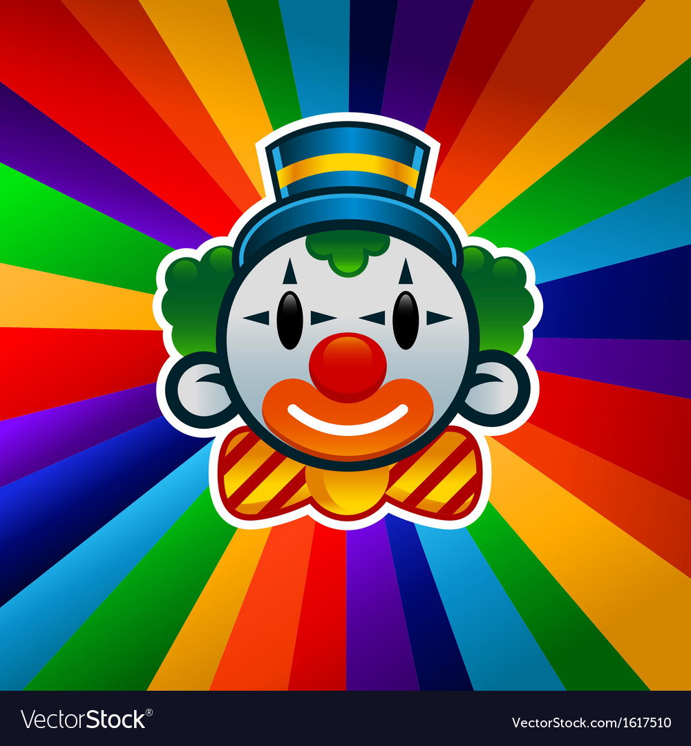 Colorful birthday clown vector | Price: 1 Credit (USD $1)