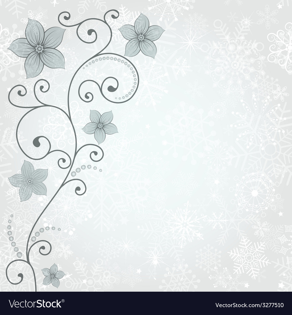 Gentle winter background vector | Price: 1 Credit (USD $1)