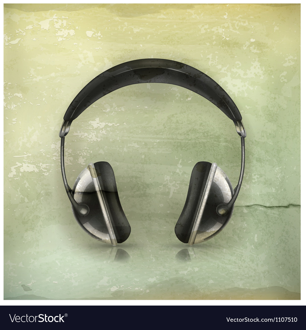 Head phones old-style vector | Price: 3 Credit (USD $3)