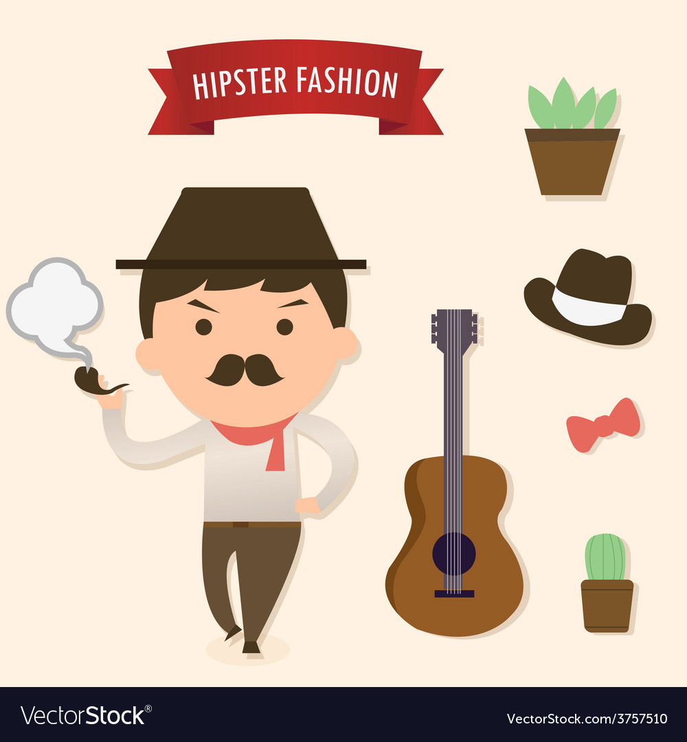 Hipster1 vector | Price: 1 Credit (USD $1)