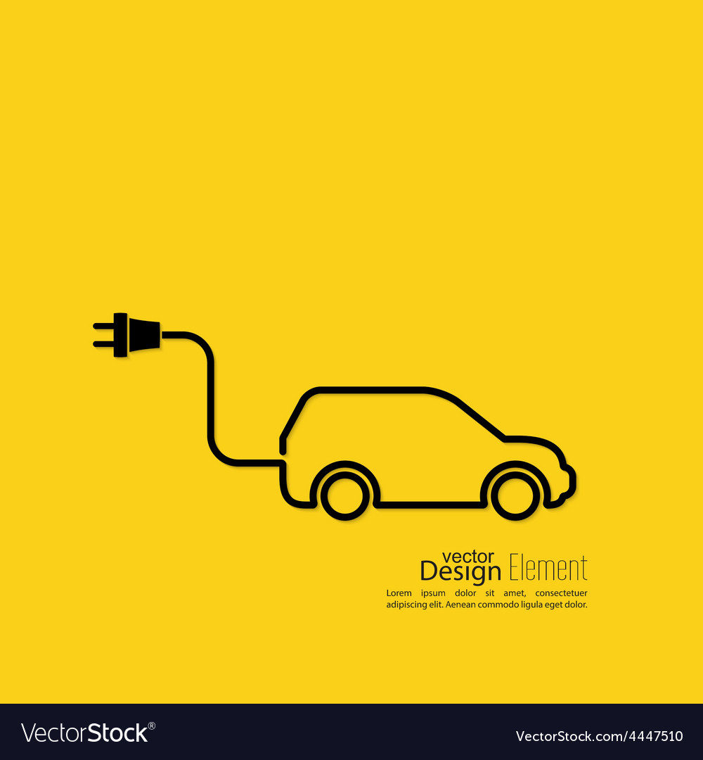 Icon of a hybrid car vector | Price: 1 Credit (USD $1)