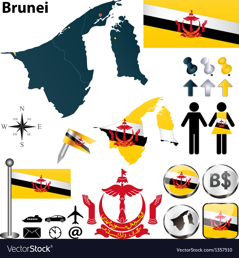 Map of brunei vector | Price: 1 Credit (USD $1)