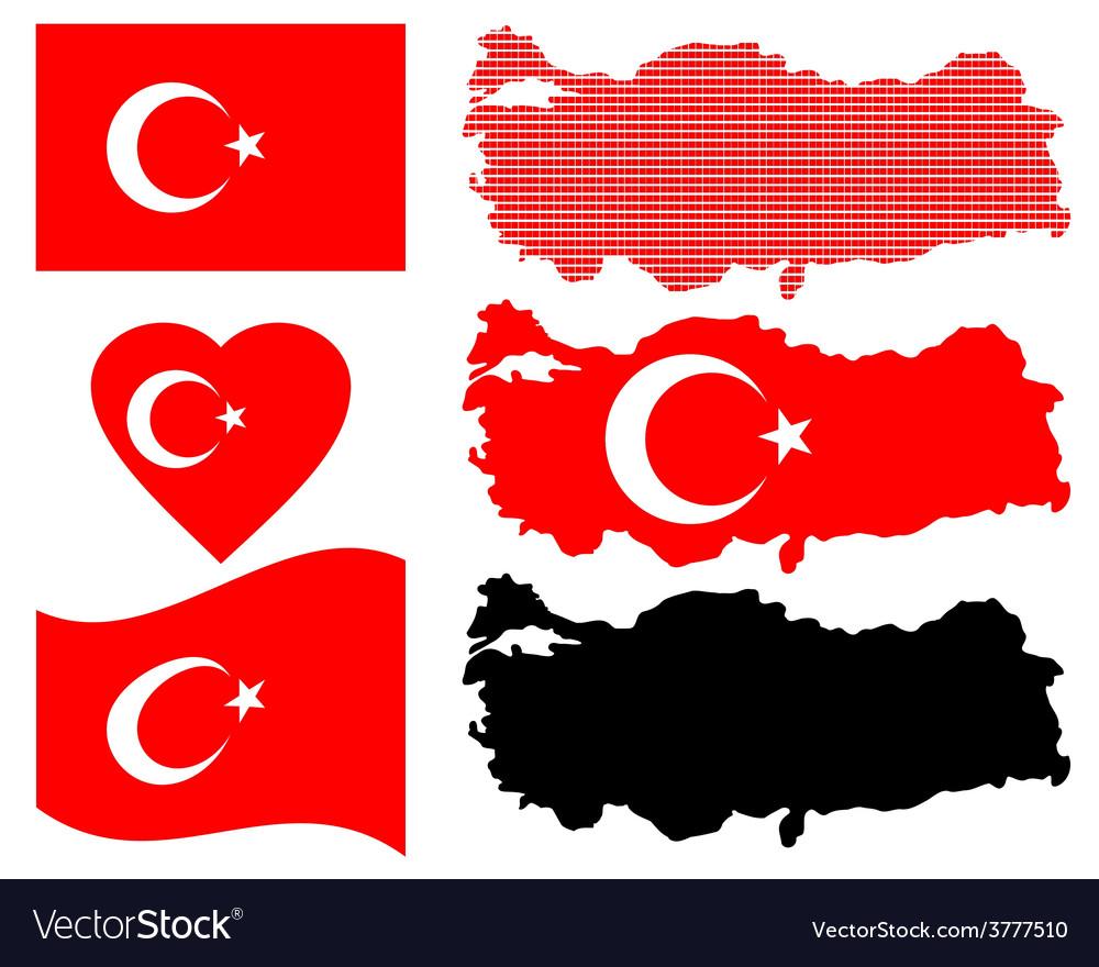 Map of turkey vector | Price: 1 Credit (USD $1)