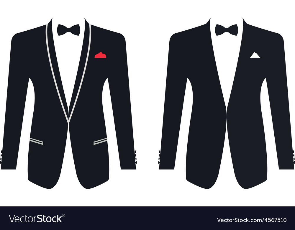 Men formal suit on a white background vector | Price: 1 Credit (USD $1)