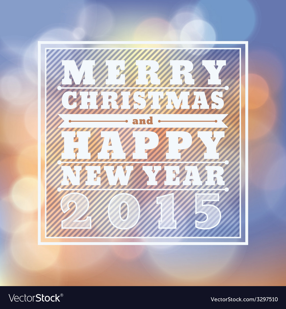 Merry christmas happy new year 2015 greeting card vector | Price: 1 Credit (USD $1)