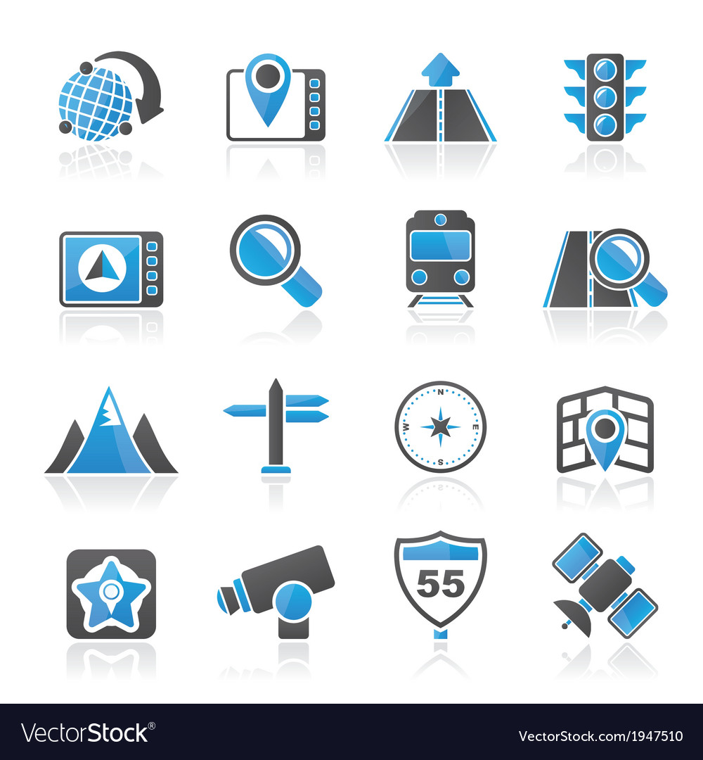 Navigation and location icons vector | Price: 1 Credit (USD $1)