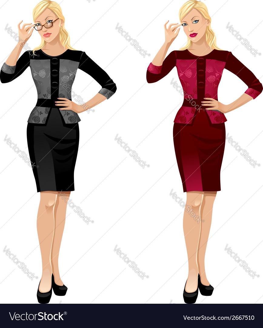 Office girls vector | Price: 1 Credit (USD $1)